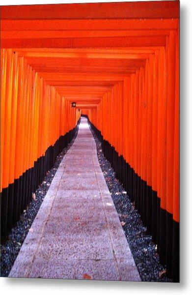 Torii Gates In Fushimi-inari Japan Metal Print