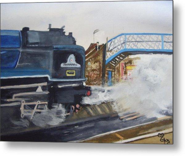 Tornado And Chertsey Station Bridge Metal Print