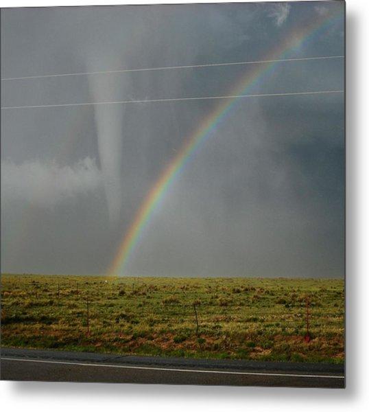 Tornado And The Rainbow Metal Print