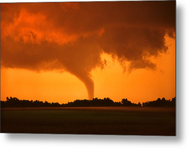 Tornado Sunset Metal Print