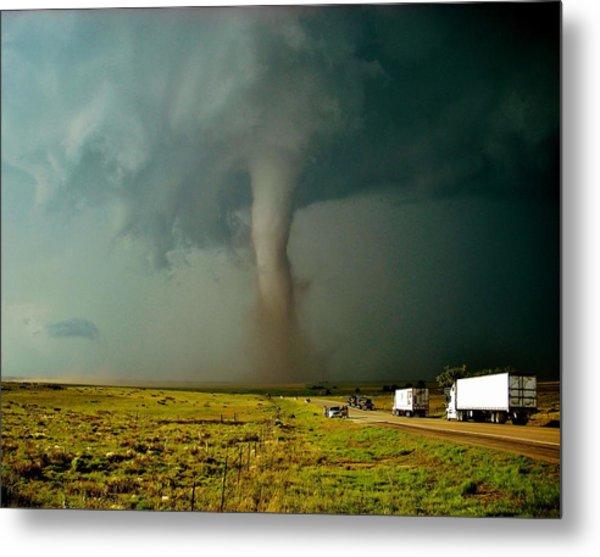 Tornado Truck Stop II Metal Print