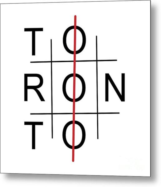 Toronto As Tic Tac Toe Game Metal Print