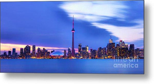 Toronto Bay Panorama Metal Print