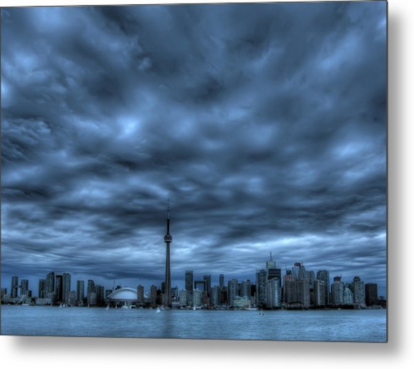 Toronto Blue Metal Print by Max Witjes