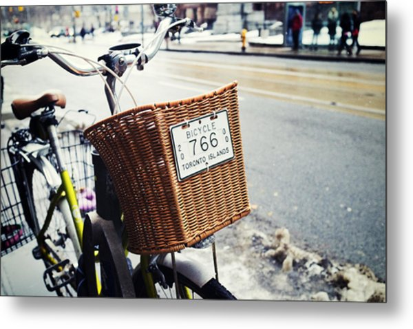 Toronto Islands Bicycle Metal Print by Tanya Harrison