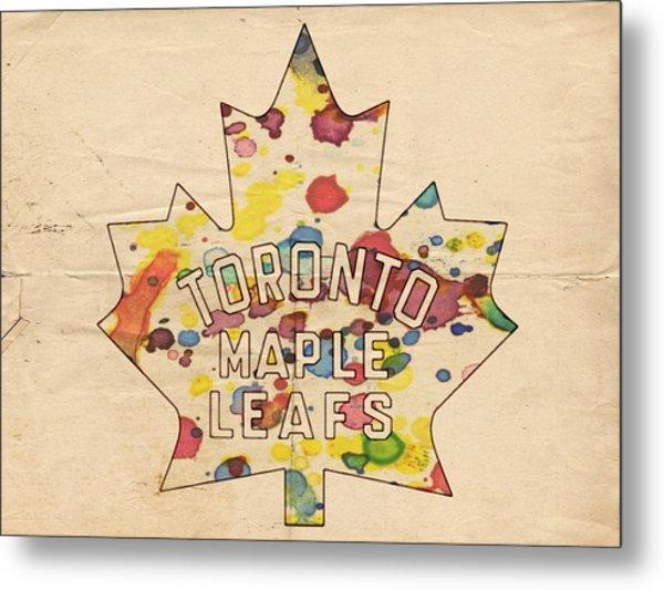 Toronto Maple Leafs Vintage Poster Metal Print