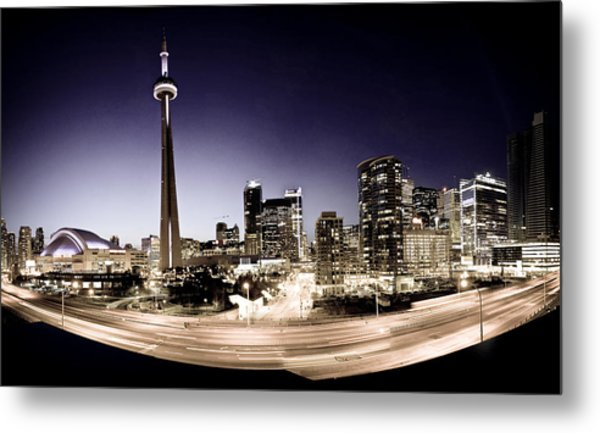 Toronto Skyline At Night Metal Print