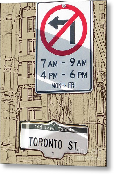 Toronto Street Sign Metal Print