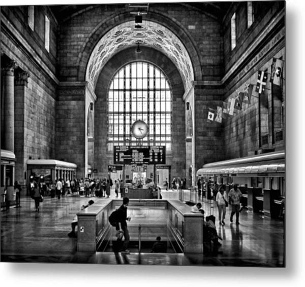 Metal Print featuring the photograph Toronto Union Station 323pm by Brian Carson
