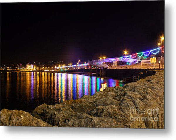 Torquay Lights Metal Print