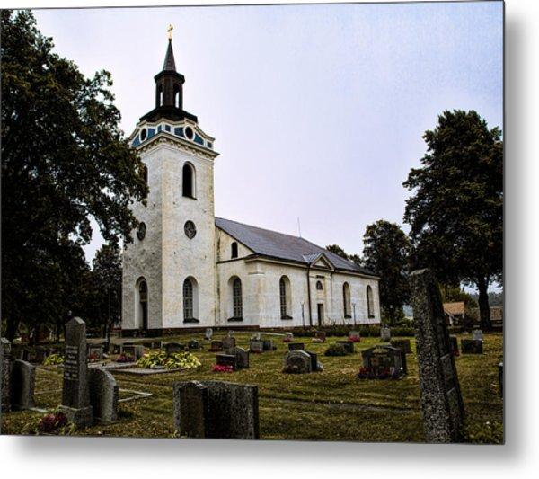 Metal Print featuring the photograph Torstuna Kyrka Church by Leif Sohlman