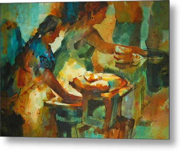 Tortillas Caliente Metal Print