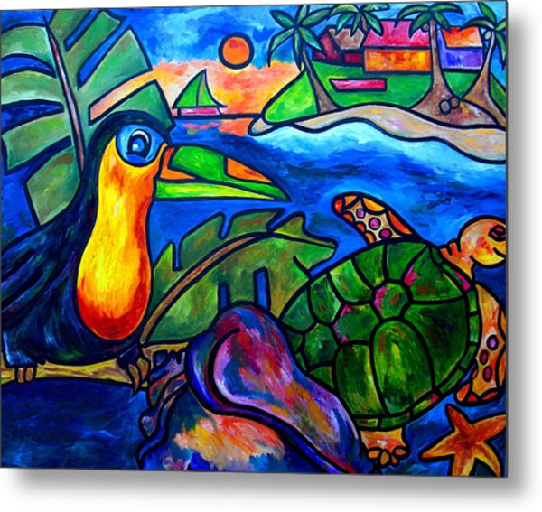 Tortuga Eco Tour Metal Print by Patti Schermerhorn