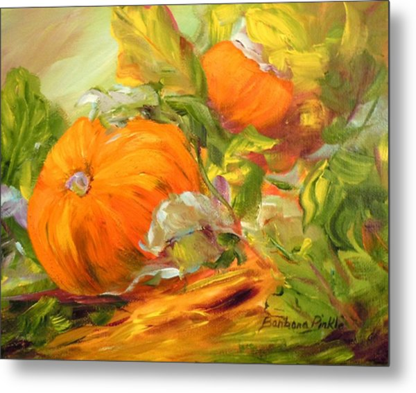 Touch Of Autumn Metal Print by Barbara Pirkle