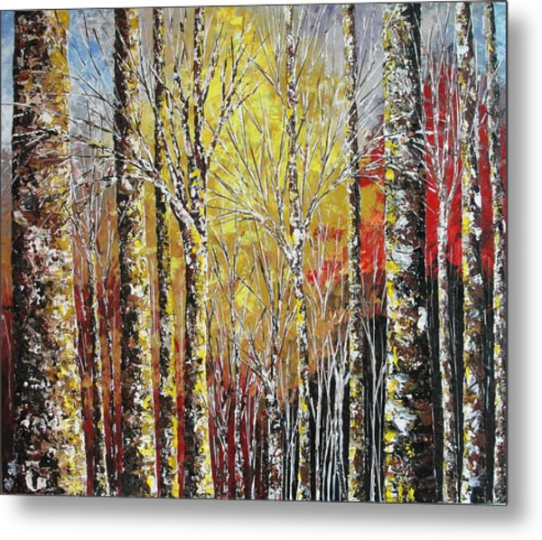 Touch Of Gold Metal Print by Shilpi Singh