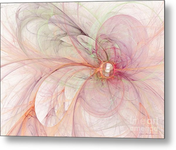 Metal Print featuring the digital art Touched By An Angel by Sipo Liimatainen