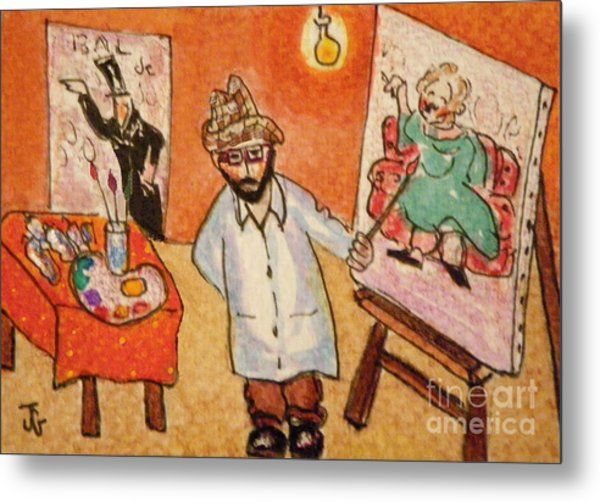 Toulouse At His Easel Metal Print