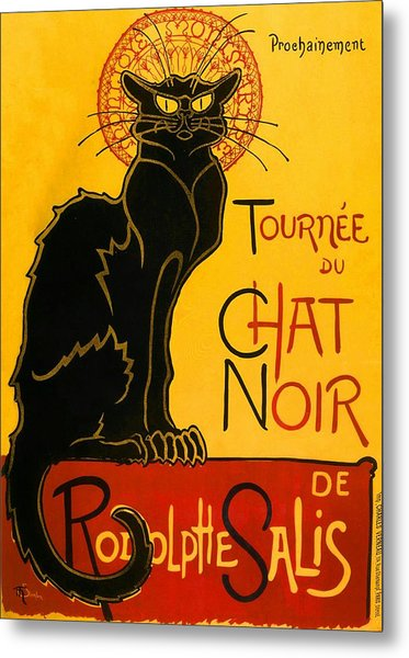 Metal Print featuring the painting Tournee Du Chat Noir by Theophile Steinlen