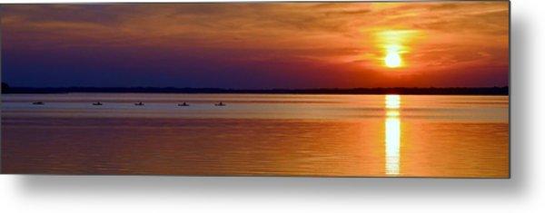 Tours End - Kayak Sunset Photo Metal Print