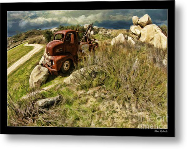 Tow Truck No Where To Go Metal Print
