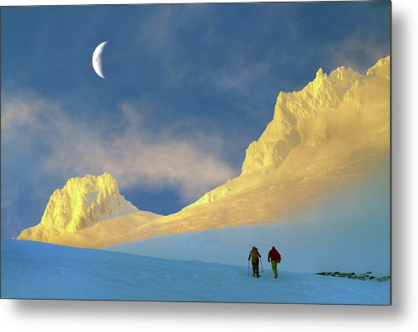 Toward Frozen Mountain Metal Print