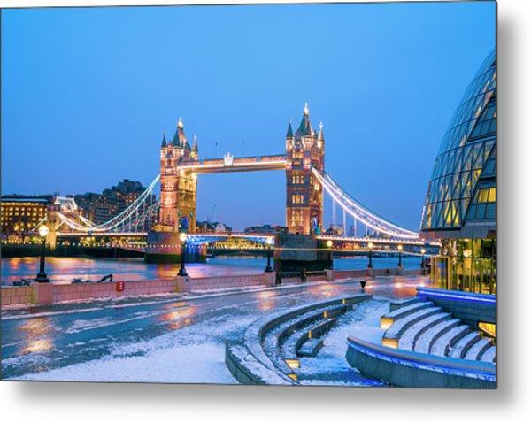 Tower Bridge And City Hall London Metal Print by Owenprice