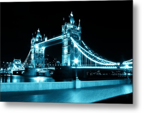 Tower Bridge Blue Metal Print by Dan Davidson