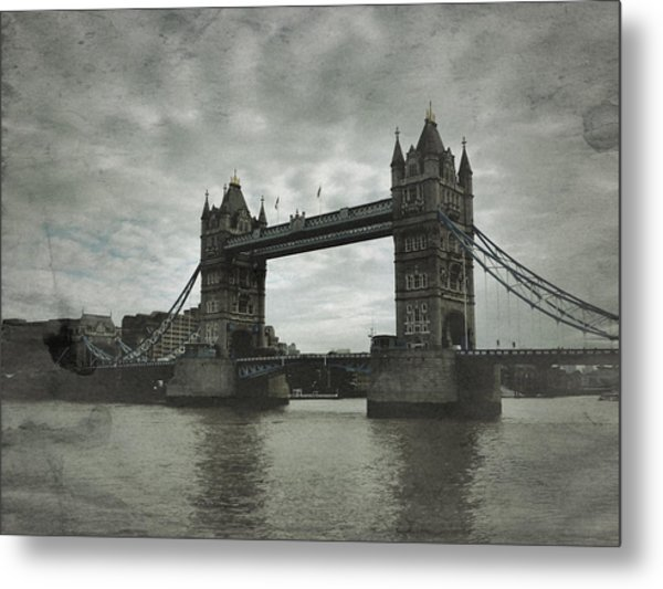 Tower Bridge In London Over The Thames Metal Print