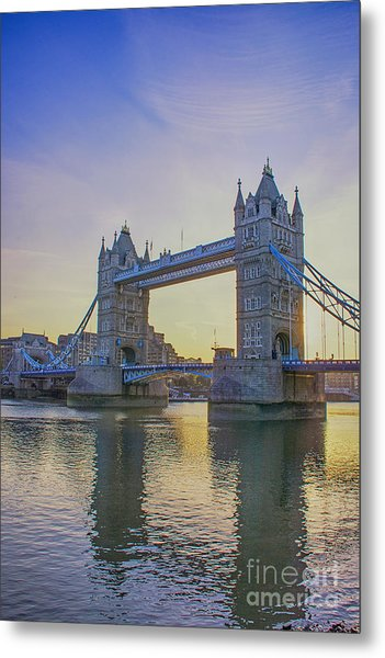 Tower Bridge Sunrise Metal Print