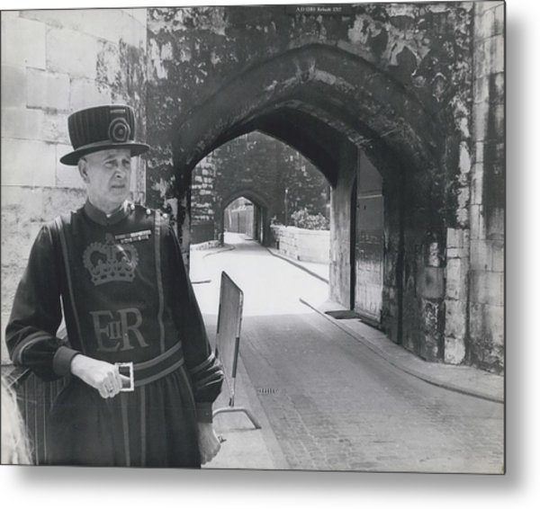 Tower Of London Closed By Beefeater Strike Metal Print by Retro Images Archive