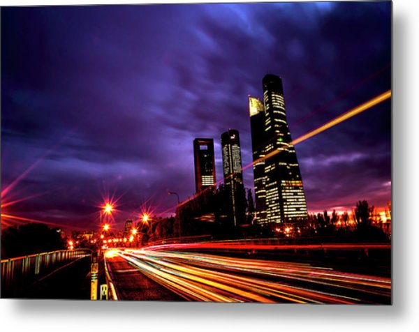 Towers And Skyscrapers Of Madrid Metal Print by Ddanni Hr