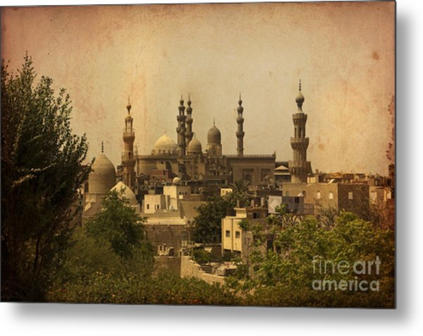 Towers Of Muslims Mosque In Cairo Metal Print
