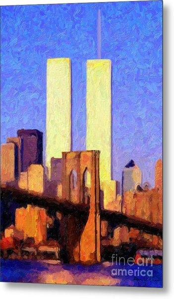 Towers Sunset  Metal Print