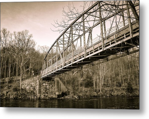 Town Bridge Collinsville Connecticut Metal Print
