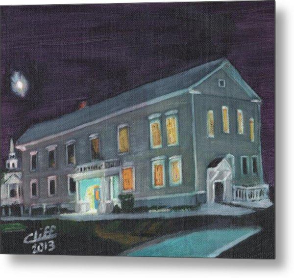 Town Hall At Night Metal Print