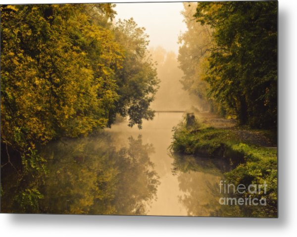 Towpath On The Champlain Canal Metal Print by Julie Palyswiat