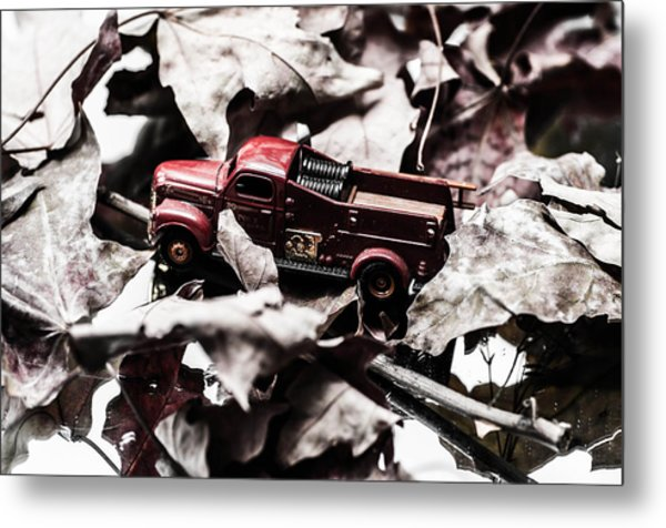 Toy Fire Truck Metal Print