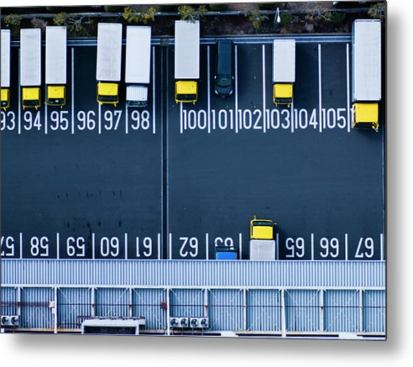 Track Parking Lot Metal Print by Michael H