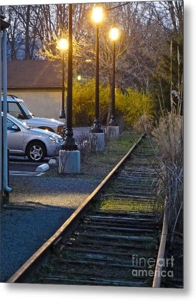 Tracks At Dusk Metal Print