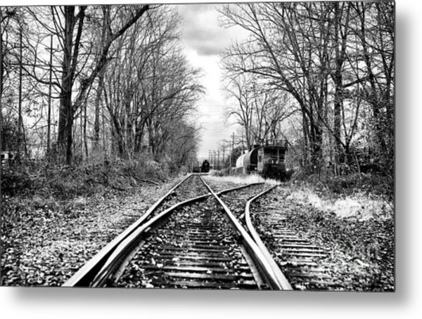 Tracks Of History Metal Print by John Rizzuto