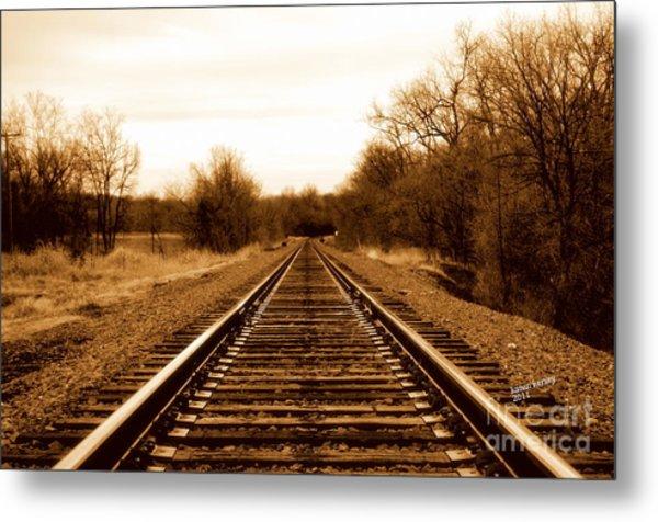 Tracks To No Where Metal Print