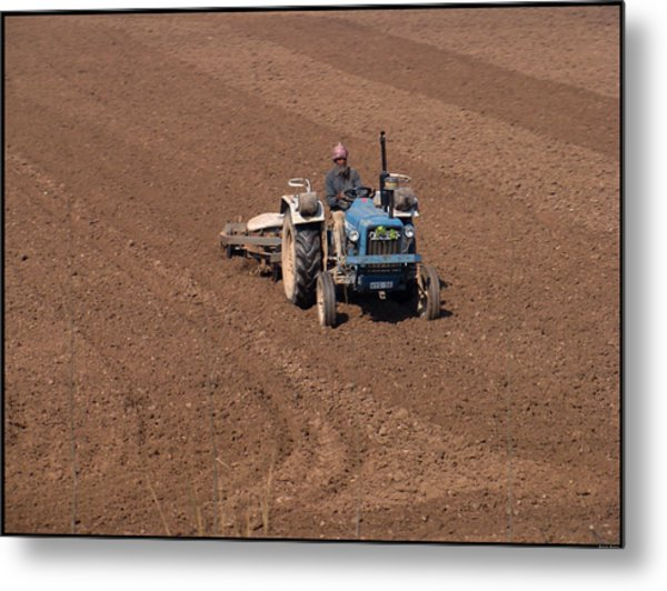 Tractor  Metal Print by Bliss Of Art