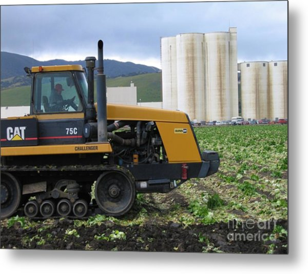 Tractor At Spreckels Metal Print