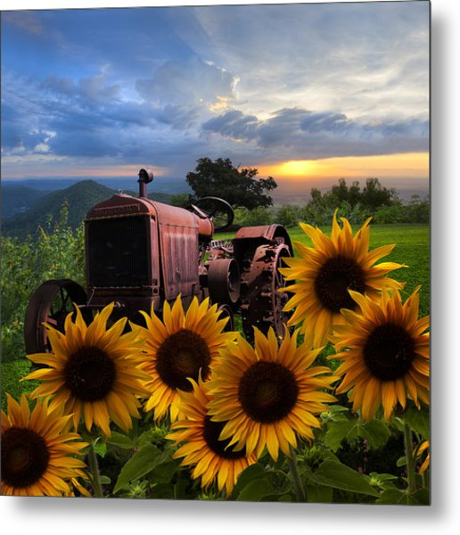 Tractor Heaven Metal Print