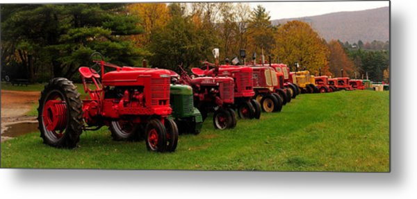 Tractor Lineup Metal Print by Don Dennis
