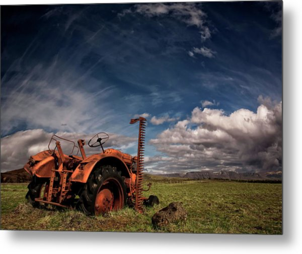 Tractor Metal Print by ?orsteinn H. Ingibergsson