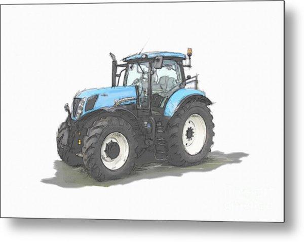 Tractor Metal Print