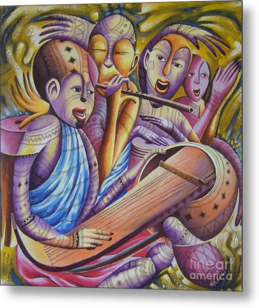 Traditional Band From East Africa  Metal Print by Masoud Kibwana