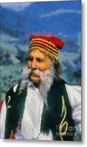 Traditional Dressed Man In Delphi Metal Print