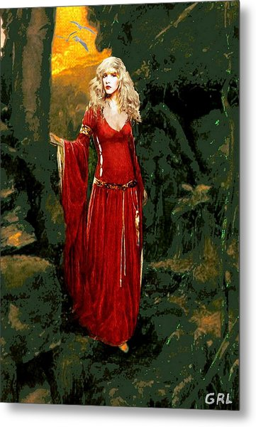 Traditional Modern Original Painting Stevie Nicks Rhiannon Metal Print